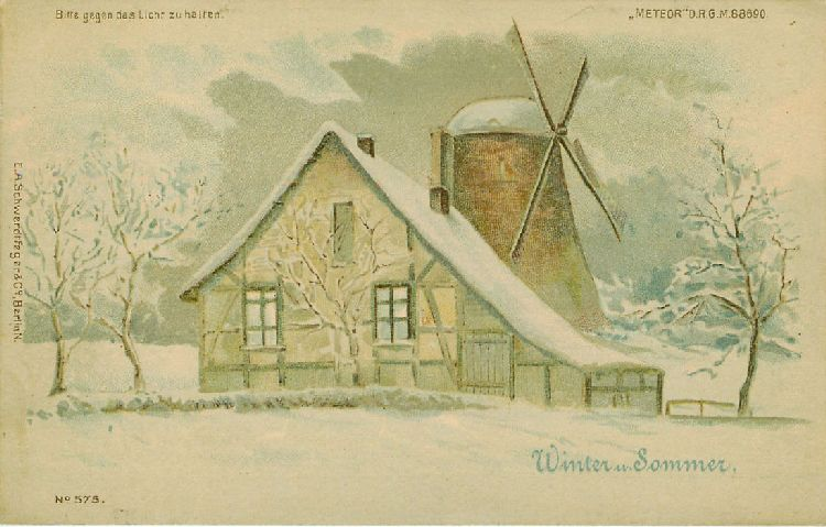 Winter - Sommer - Windmill - Germany