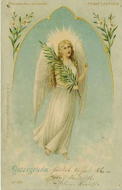 Ostergruss - Angel - German Easter Greeting