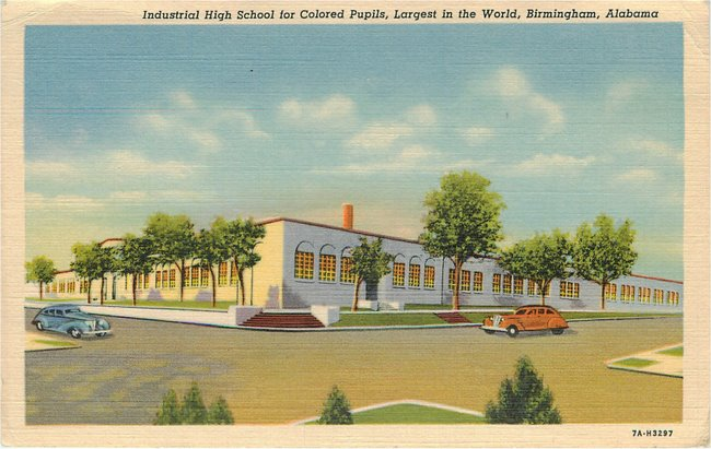 Black Americana Postcard - Industrial High School for Colored