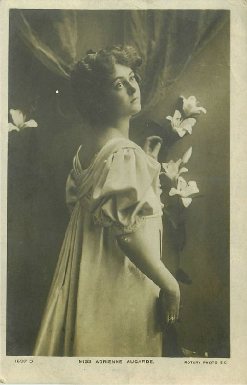Miss Adrienne Augarde - No. 1697 O Postcard