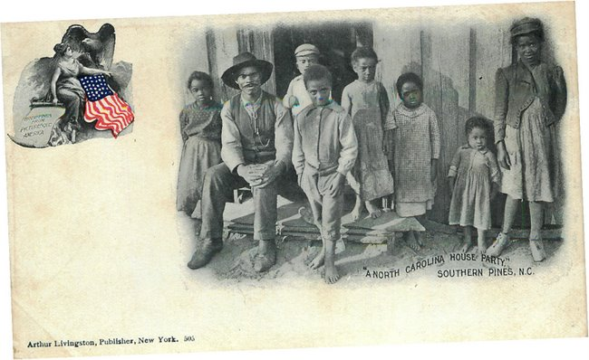 "Black Americana Postcard ""A North Carolina House Party"""