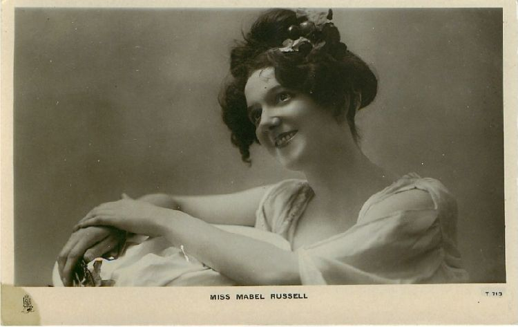 Miss Mabel Russell - No. T 713 Postcard