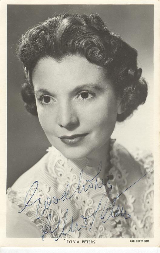 Sylvia Peters Genuine Handwritten Autograph
