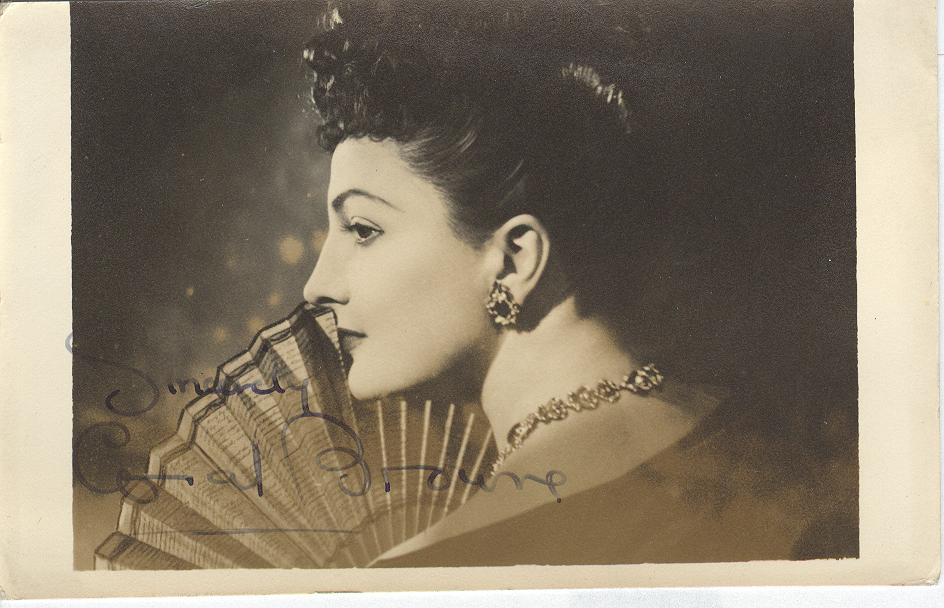 Coral Browne Genuine Handwritten Autograph Photo Card