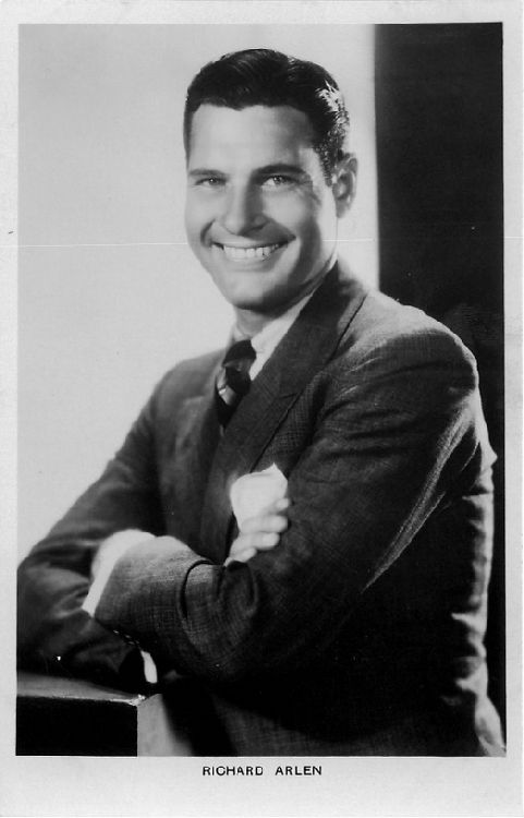 Richard Arlen with Crossed Arms - No. 350b Postcard