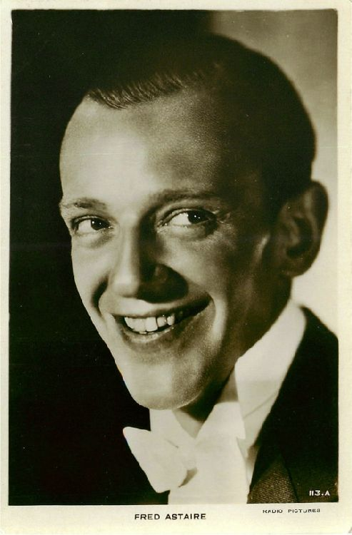 Fred Astaire Smiling, Wearing Bowtie Postcard