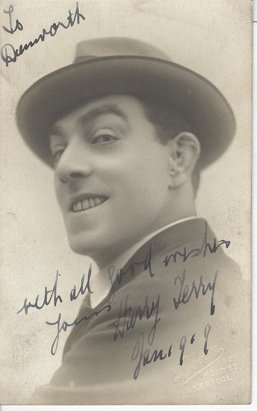 Harry Terry Genuine Handwritten Autograph Photo Card 1919