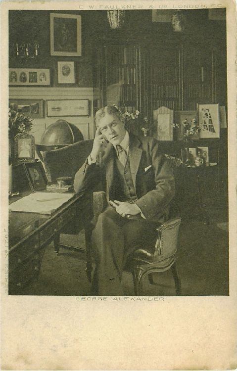 George Alexander Sitting in Office at Desk - No. 176 F