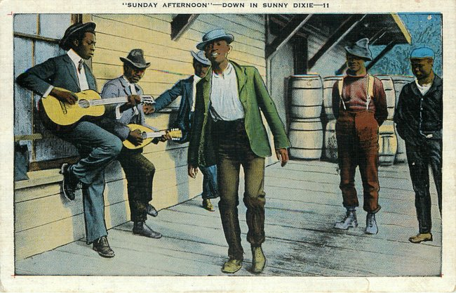 Black Americana Postcard - Down in Sunny Dixie No. 11