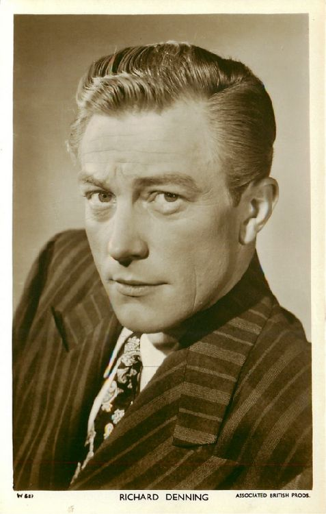 Richard Denning - No. W 629 Postcard