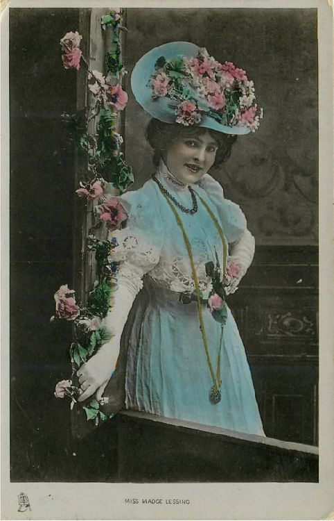 Miss Madge Lessing - Series 5763 Postcard