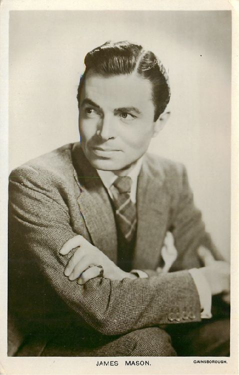 James Mason - No. W 151 Postcard