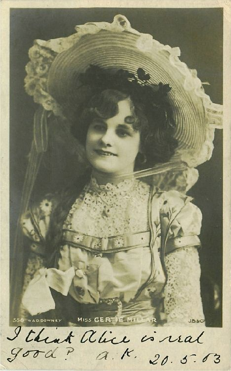 Miss Gertie Millar - No. 558 Postcard