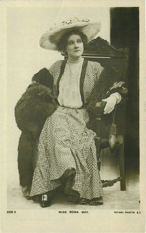 Miss Edna May - No. 205 X Postcard