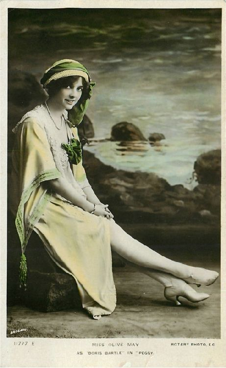 "Miss Olive May in ""Peggy"" - No. 11777 E Postcard"