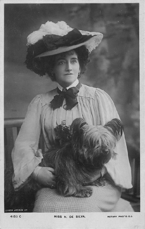Miss N. de Silva - No. 4153 C Postcard