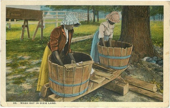 No. 35 Wash Day in Dixie Land postcard