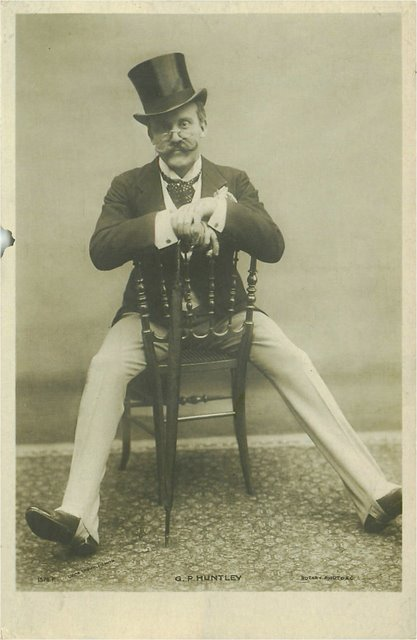 G.P. Huntley Rotary Photo Edwardian Actor Postcard