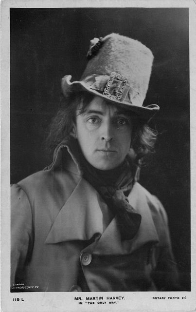 Mr. Martin Harvey Edwardian Actor Postcard Rotary Photo