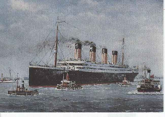 "R.M.S. ""Titanic"" White Star Line Reproduction Postcard"