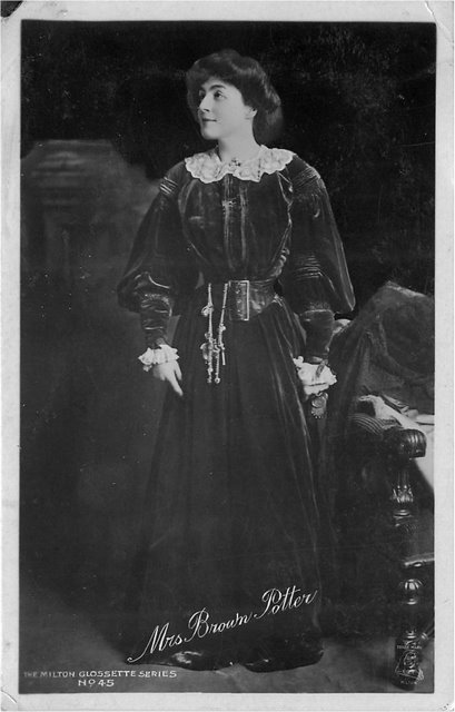 Miss Brown Potter Edwardian Actress Postcard