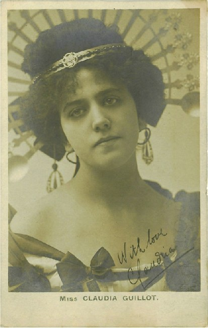 Miss Claudia Guillot - Features Autograph Postcard