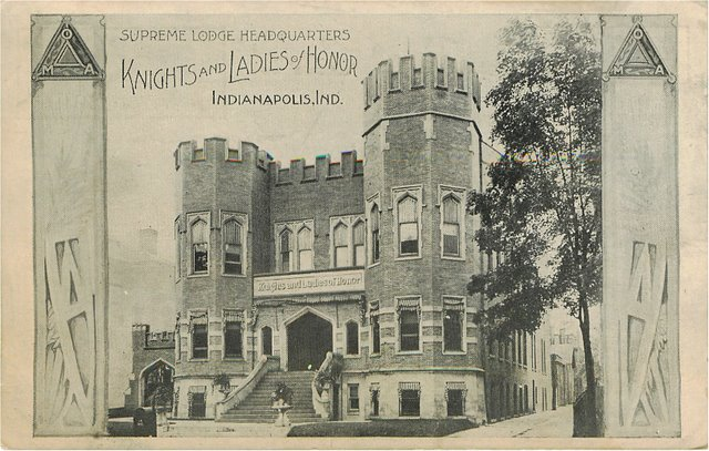 Knights & Ladies of Honor Indianapolis, IN Club Postcard