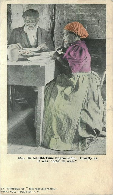 No. 264 In an Old Time Negro Cabin Postcard