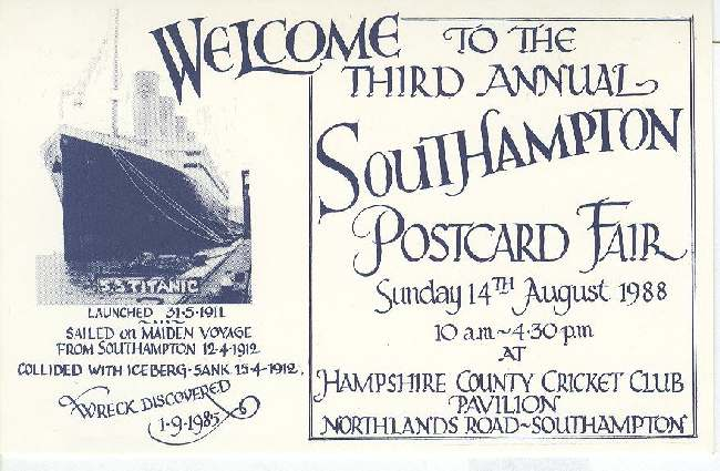 Welcome to the third annual South Hampton postcard fair