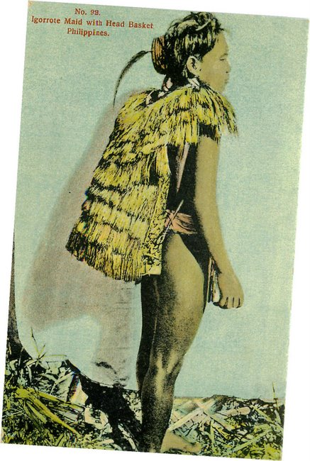 No. 92. Igorrote Maid with Head Basket Philippines postcard