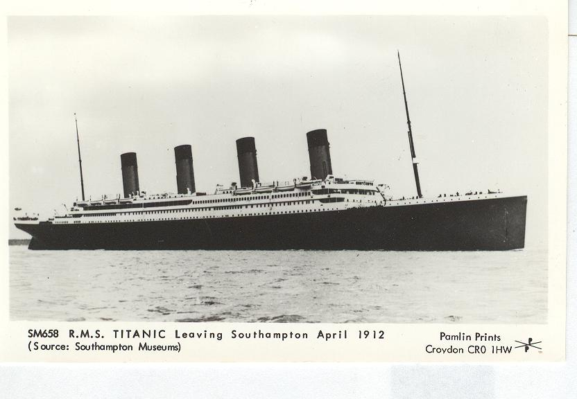 SM658 R.M.S. Titanic Leaving South Hampton April 1912