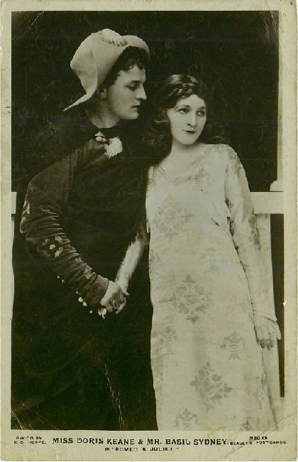 "Miss Doris Keane & Mr. Basil Sydney in ""Romeo & Juliet"""
