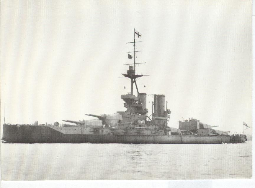 H.M.S. IRON DUKE BATTLESHIP