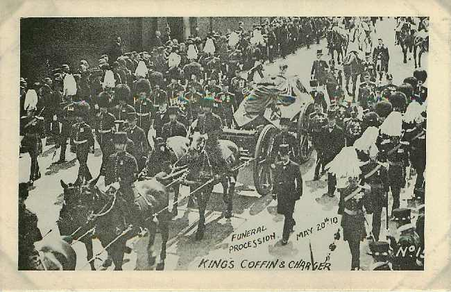 King George Funeral Procession Kings Coffin & Charger 1910