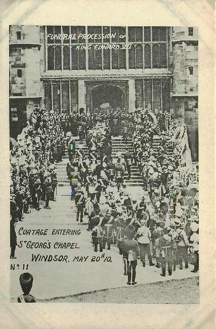 Funeral King Edward St Georges Chapel Windsor 1910