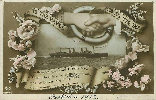 Titanic Hands Across the Sea Vintage 1912