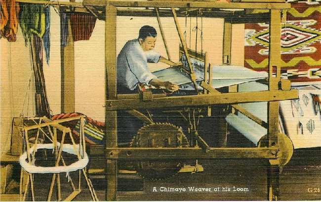 A Chimayo Weaver at his Loom - No. G 24