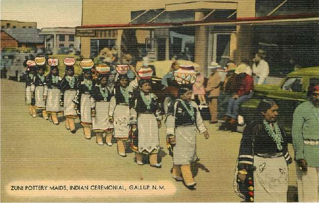 Zuni Pottery Maids, Indan Ceremonial, Gallup, N.M.