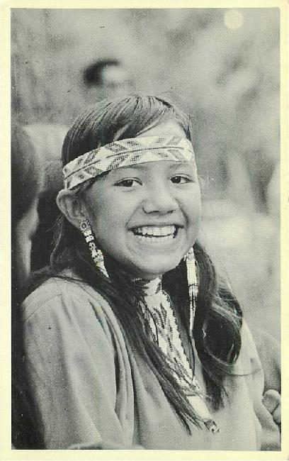 Pow Wow Time - Young Indian Maiden - Mesquakie Indian...