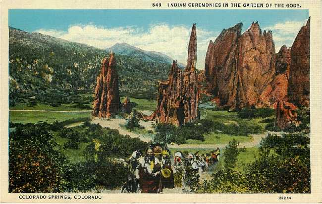 Indian Ceremonies in the Garden of the Gods, Colorado Springs CO