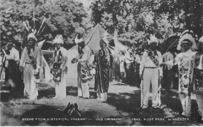 "Scene from Historical Pageant - ""Old Crossing"" - 1943, Huot Park"