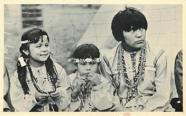 Pow Wow Time - Indian Children - Mesquakie Indian Settlement