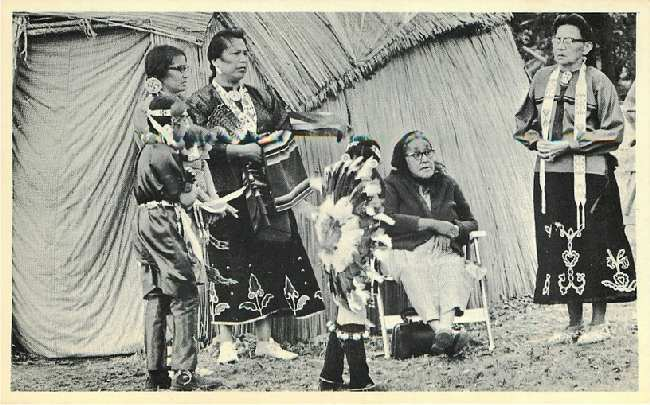 Pow Wow Time - Indian Family - Mesquakie Indian Settlement...