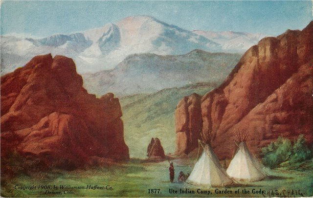 Ute Indian Camp, Garden of Gods Postcard