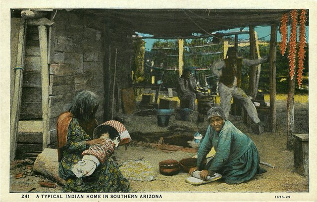 Indian Home in Southern Arizona Postcard