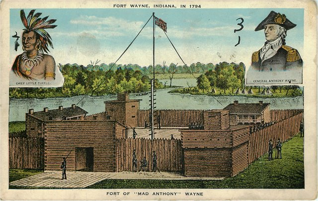 Fort Wayne Indiana In 1794 Postcard