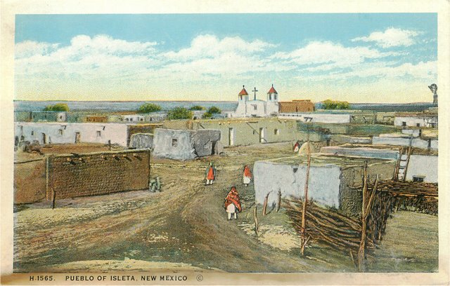 Pueblo of Isleta, New Mexico Indian Postcard