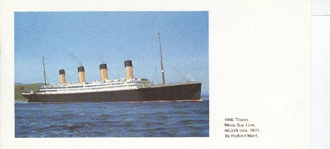 R.M.S Titanic White Star Line Collectors Postcards