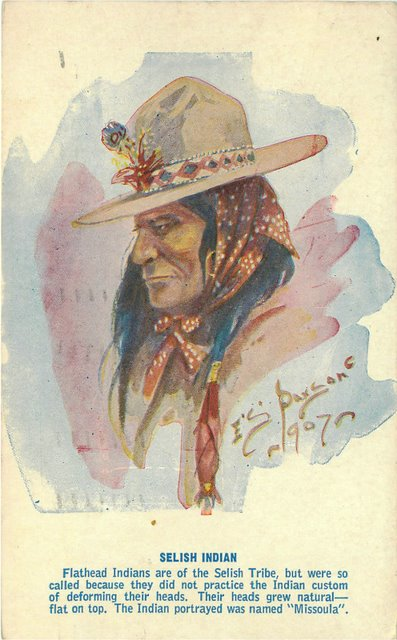 Selish Indian Postcard