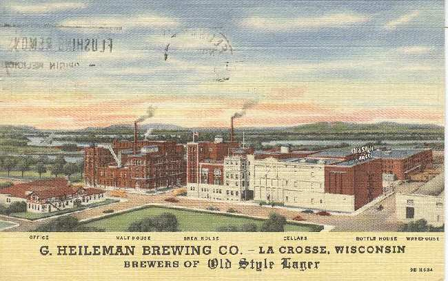 Alcohol Postcard - Bottling Plant of Budweiser